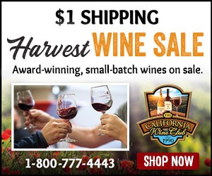 $1 Shipping Harvest Wine Sale