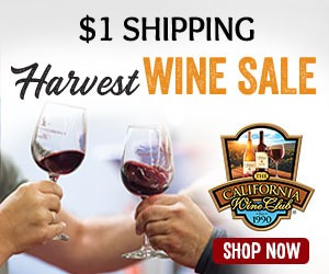 $1 Shipping Harvest Wine Sale