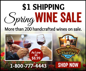 $1 Shipping Spring Wine Sale