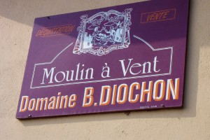 A sign at Domaine Diochon, pictured on the winery's page at importer Kermit Lynch's website.