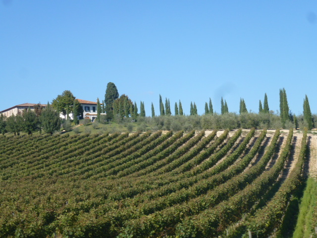 Winery in the Chianti Classico region of Tuscany.  PHOTO: TERRY DUARTE
