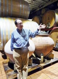 Filippo Antonelli in the wine cellar. PHOTOS: TERRY DUARTE.