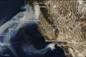 From Space.com: The 2018 California Wildfires as Seen from Space