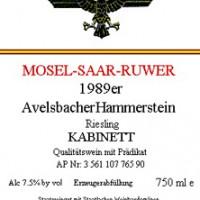 1989 Avelsbacher Hammerstein Riesling Kabinett