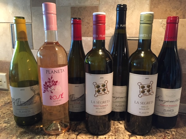 Planeta's Etna wines.  PHOTO: TERRY DUARTE