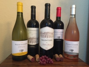 A selection of Tenuta Argentiera wines. PHOTO: TERRY DUARTE