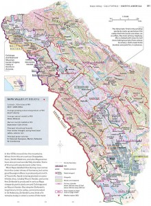Napa Valley in high topographical detail from the World Atlas of Wine.