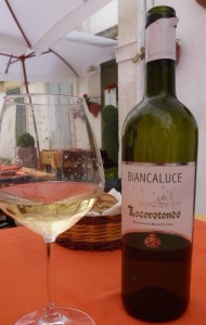Biancaluce wine. PHOTO: Terry Duarte