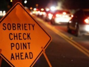 Sobriety check point ahead