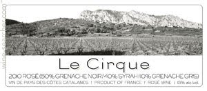 Le Cirque 2014 Côtes Catalanes Rosé