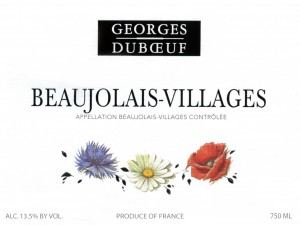Georges Duboeuf Flower Label