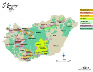 wine map of Hungary