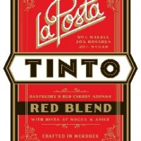 La Posta Tinto with tasting notes on the label!