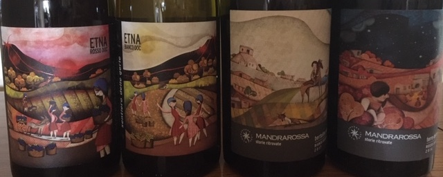 Mandrarossa's wine labels. PHOTO: TERRY DUARTE.