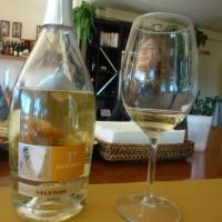 Velenosi's Angeolina Velenosi looks through a glass of Passerino.PHOTO: TERRY DUARTE
