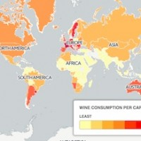 World Wine Consumption Per Capita. (Telegraph Travel)